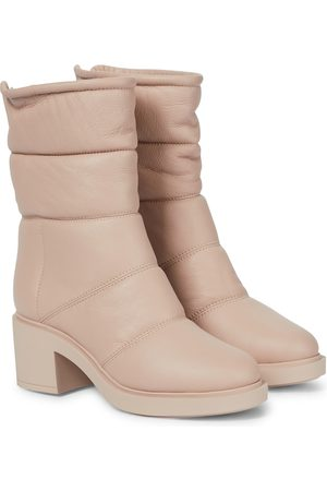Gianvito Rossi Shearling-lined leather ankle boots