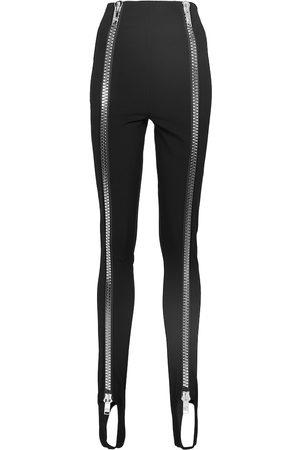 Dolce & Gabbana Zip-detail stretch-jersey stirrup leggings