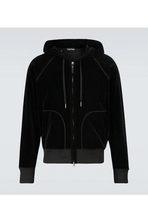 Tom Ford Miehet Collegepaidat - Hooded velour sweatshirt