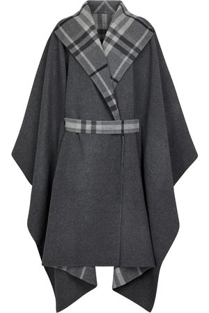 Burberry Vintage Check reversible wool-blend cape