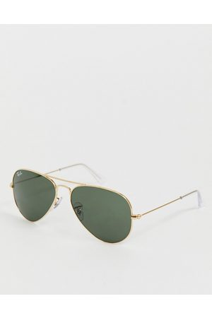 Ray-Ban Aviator sunglasses in gold 0RB3025