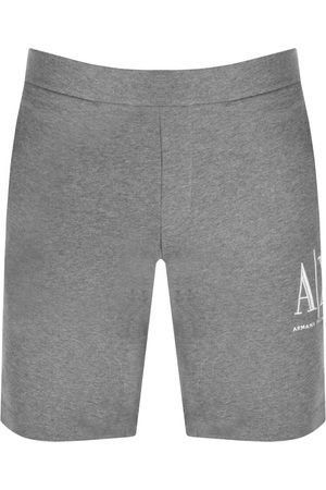 Armani Miehet Bermuda - Jersey Bermuda Shorts Grey