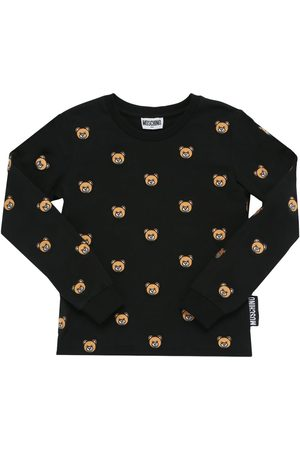 MOSCHINO All Over Patch Cotton Jersey T-shirt