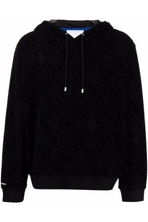 Koché Collegepaidat - Jacquard-logo drawstring hoodie