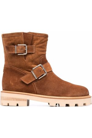 Jimmy Choo Youth II buckled suede ankle boots