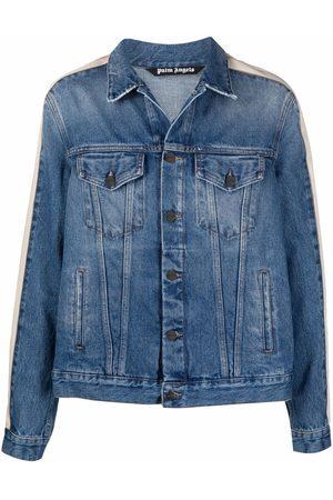 Palm Angels Stripe-detail denim jacket