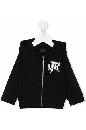 John Richmond Junior Collegepaidat - Logo lettering zip-up hoodie