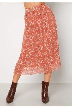 BUBBLEROOM Zarie pleated skirt Dusty pink / Floral 34