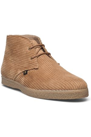 Farah Jonah Mid Desert-kengät Nauhakengät Beige