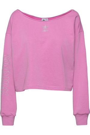 adidas Originals 2000 Luxe Slouchy Crew Sweatshirt W Svetari Collegepaita Vaaleanpunainen