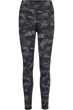 Famme Camouflage Tights Running/training Tights Musta
