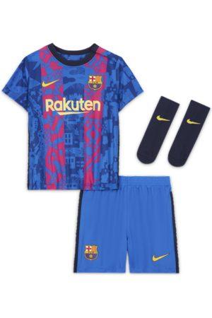 Nike F.C. Barcelona 2021/22 Third Baby & Toddler Kit - Blue