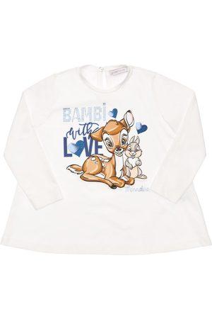MONNALISA Tytöt T-paidat - Bambi & Thumper Print Jersey T-shirt