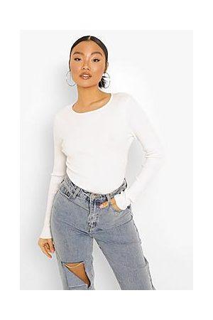 Boohoo Naiset Bodyt - Petite Fine Knit Long Sleeve Bodysuit