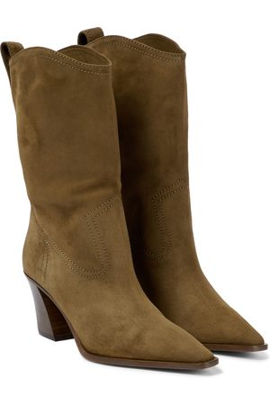 Aquazzura Naiset Nilkkurit - Dolly 70 suede ankle boots