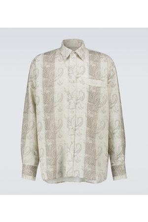 COMMAS Oversized jacquard-print linen shirt