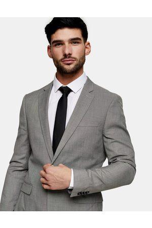 Topman Miehet Päällystakit - Skinny single breasted suit jacket in grey