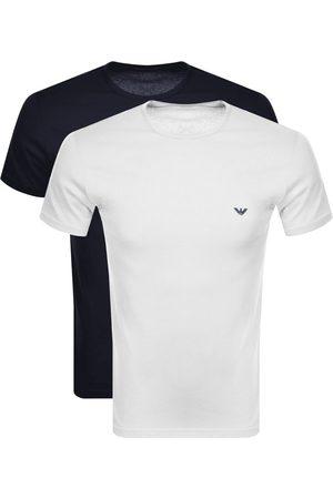 Armani Emporio 2 Pack Lounge T Shirts White