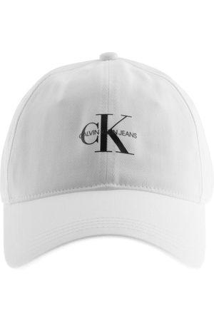 Calvin Klein Miehet Lippikset - Jeans Monogram Logo Cap White