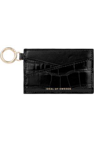 IDEAL OF SWEDEN Ora Cardholder Keyring Glossy Black Croco