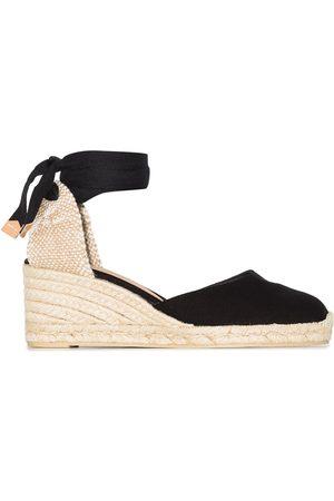 Castaner Naiset Sandaletit - Carina 60 ankle-tie wedge sandals
