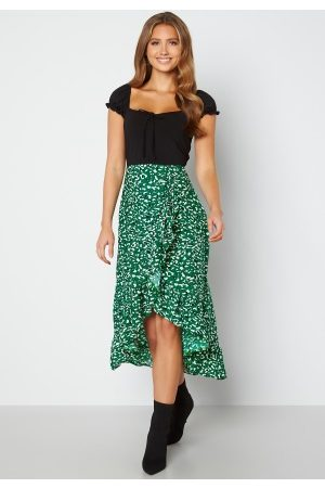 Ax Paris Wrap Midi Dress Green S (UK10)
