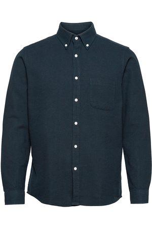 Far Afield Miehet Kauluspaidat - Mod Button Down L/S Shirt Paita Rento Casual Sininen