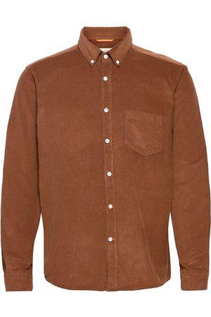 Far Afield Miehet Kauluspaidat - Field L/S Shirt Paita Rento Casual Ruskea