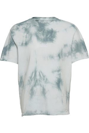 AllSaints State Tie Dye Ss Cre T-shirts Short-sleeved Valkoinen