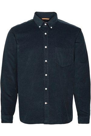 Far Afield Miehet Kauluspaidat - Field L/S Shirt Paita Rento Casual Sininen