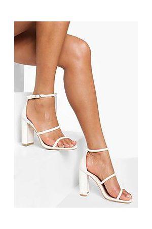 Boohoo Naiset Sandaletit - Triple Strap Croc Block Heel Sandal