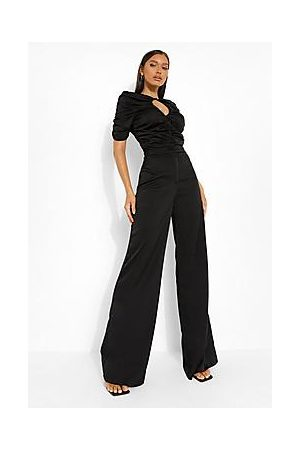 Boohoo Ruched Cut Out Bodysuit