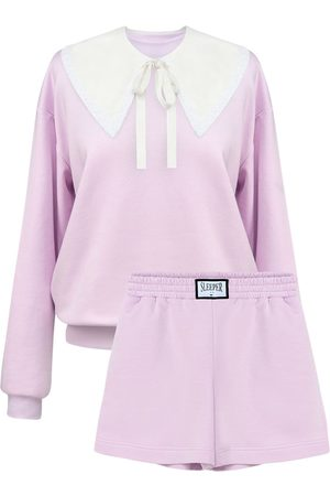 SLEEPER Naiset Collegepaidat - Diana Cotton Blend Sweat Suit
