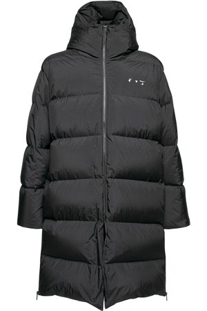 OFF-WHITE Long Nylon Ripstop Down Jacket