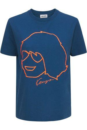 KENZO Naiset T-paidat - Embroidered Organic Cotton Loose T-shirt