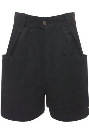 ISABEL MARANT ÉTOILE Naiset Shortsit - Palinoa Pleated Cotton Shorts
