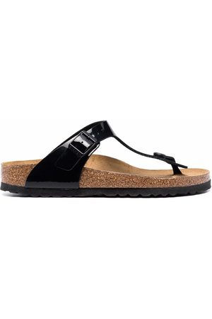 Birkenstock Naiset Sandaalit - Gizeh patent-leather sandals