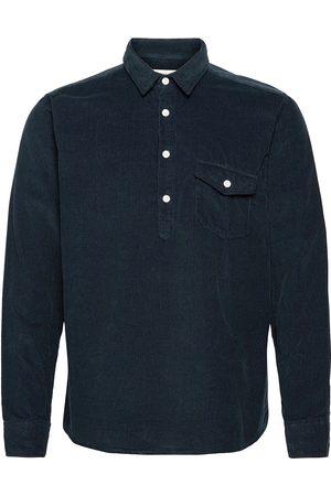 Far Afield Flap Pocket Pop-Over L/S Shirt Paita Rento Casual Sininen