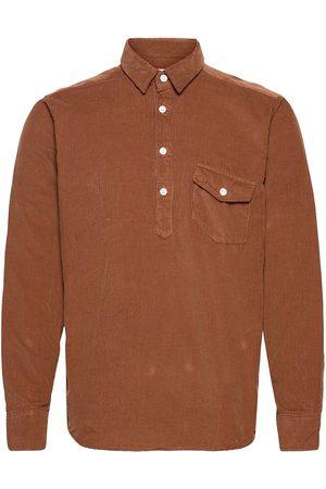 Far Afield Flap Pocket Pop-Over L/S Shirt Paita Rento Casual Ruskea