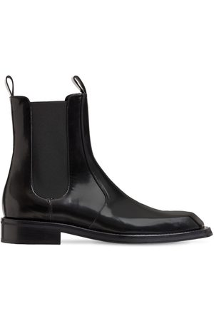 MARTINE ROSE Leather Chelsea Boots