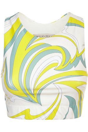 Emilio Pucci Naiset Topit - Printed Eco Lycra Sport Bra Top