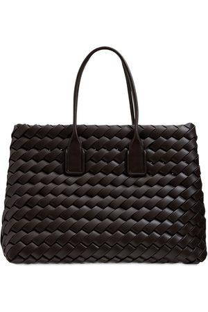Bottega Veneta Maxi Snap Intreccio Tote Bag
