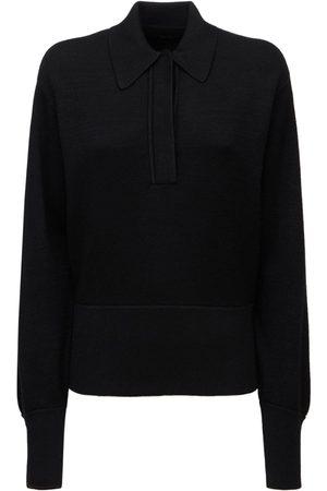 Isabel Marant Naiset Pikee - Heron Wool Knit Polo Sweater