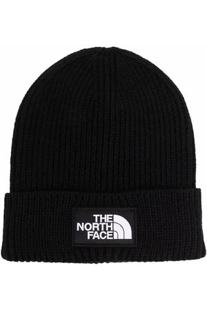 The North Face Box logo-patch ribbed beanie