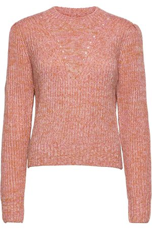 Scotch&Soda Loose Fit Crewneck Pullover With Puff Sleeves Neulepaita Vaaleanpunainen