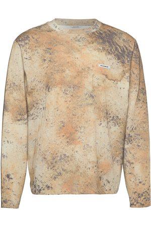 Holzweiler Sediments Ls T-shirts Long-sleeved Beige