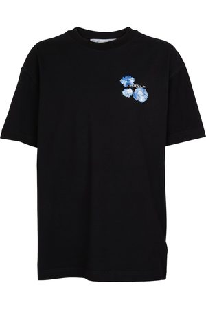 OFF-WHITE Embroidered-logo cotton T-shirt