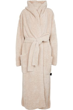 Palm Angels Wool-blend bouclé robe