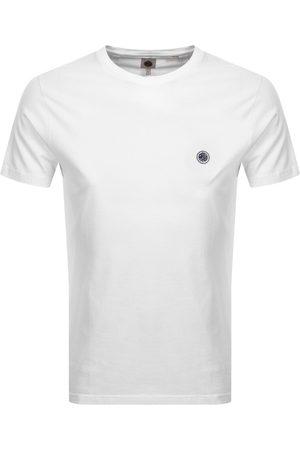 Pretty Green Miehet T-paidat - Mitchell Crew Neck T Shirt White