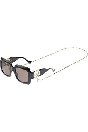 Gucci Naiset Aurinkolasit - Chain Squared Sunglasses